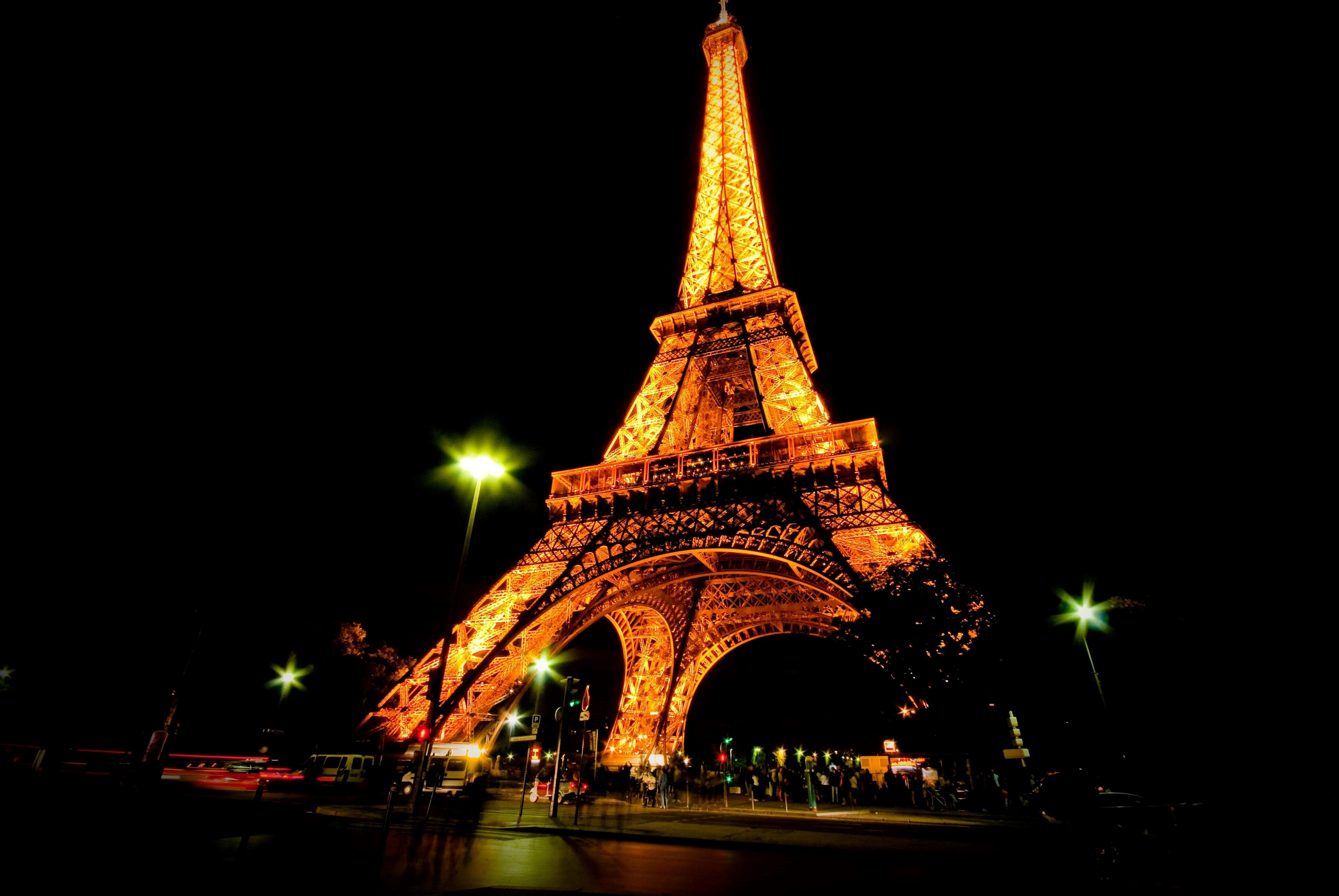 Eiffel Tower Night View Hd Wallpapers