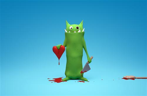 3D Angry Love Cartoon