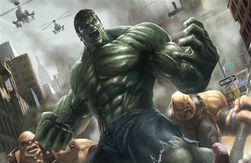 3D Hulk Cartoon