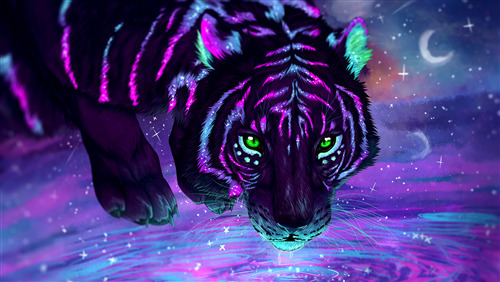 3D Wallpaper of Tiger