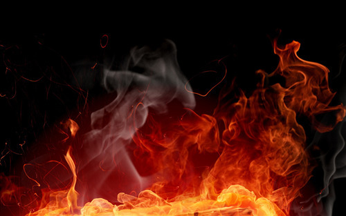 Abstract Fire Wide Wallpaper Background