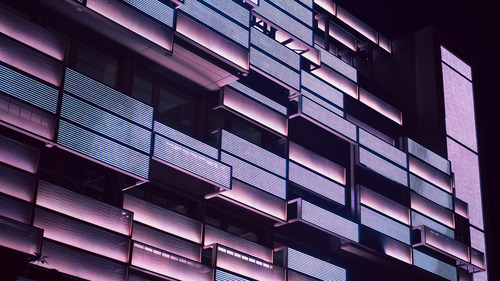 Building Balcony Abstract 4K Wallpaper