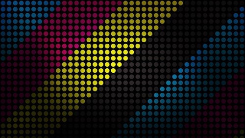 Colorful Dot Pattern Abstract Wallpaper