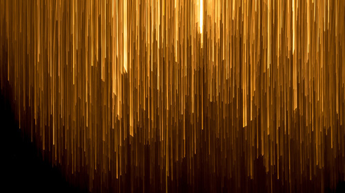 Golden Lines in Black Background Abstract 4K Wallpaper