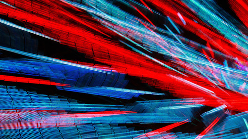 Red and Blue Design Abstract 4K Wallpaper