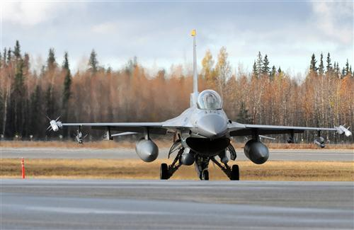 Fighter Plane on Runway HD Photo