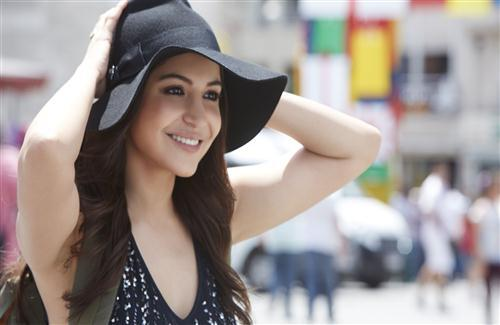 Anushka Sharma in Black Cap 4K Resolution Wallpaper