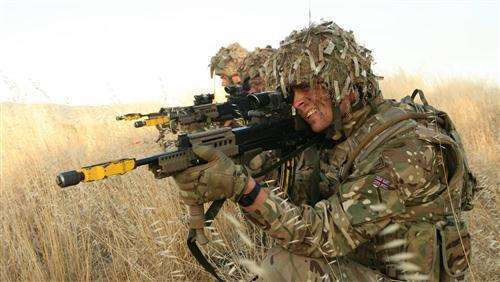 The British Army Soldier in Forest