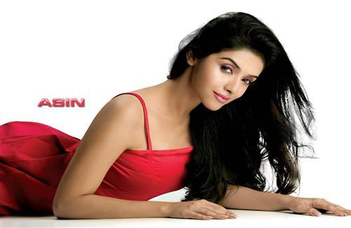 Bollywood Actress Asin Thottumkal in Red