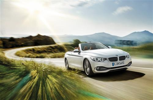 White BMW 4 Series Convertible 2 Seater Cars on Road Photo