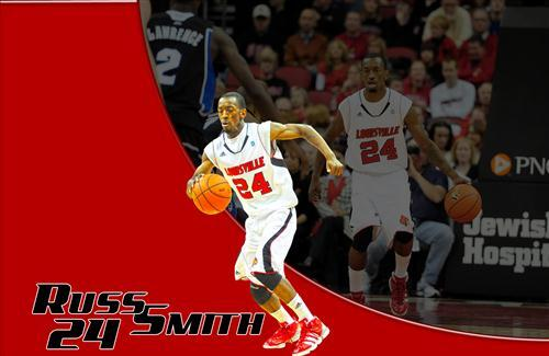 Basketball Player Russ Smith in Action