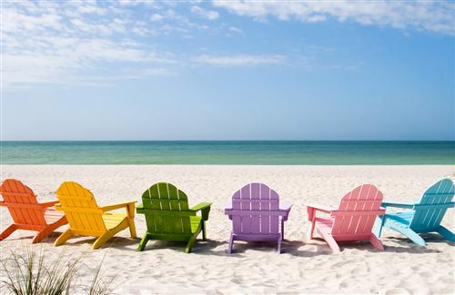 Colorful Chair on Beach