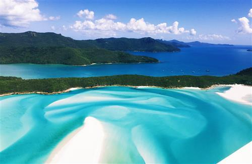 Whitehaven Beach in Australia Tourist Place Wallpaper