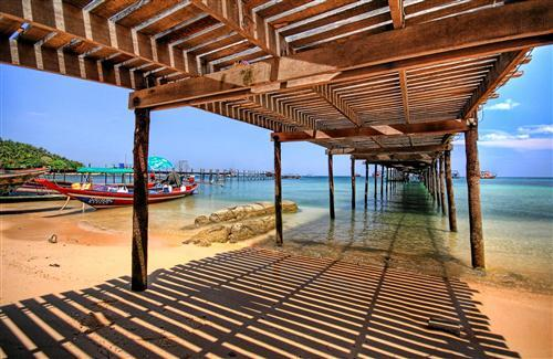 Wooden Bridge at Beach