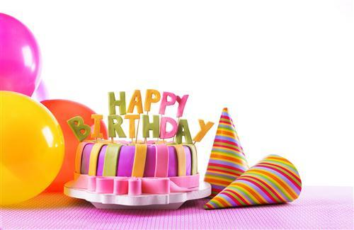 Happy Birthday on Cake HD Wallpaper