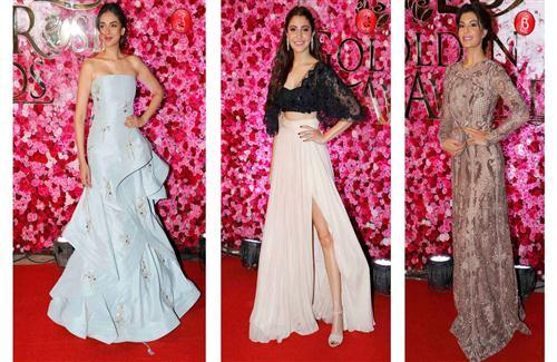 Aditi Rao Hydari Jacqueline and Anushka in Lux Golden Rose Awards 2016 HD Photo