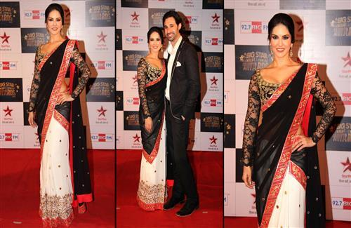 Sunny Leone with her Husband Daniel Webber at the Big Star Entertainment Awards 2013 Wallpapers