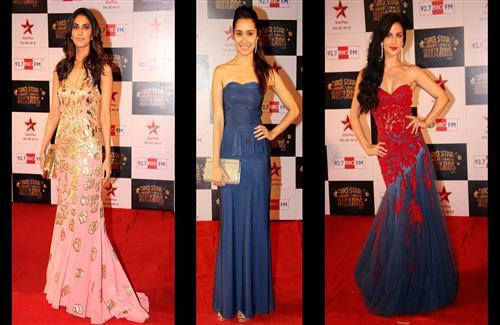 Vaani Kapoor Shraddha Kapoor and Elli Avram at Big Star Entertainment Awards 2013 Wallpapers