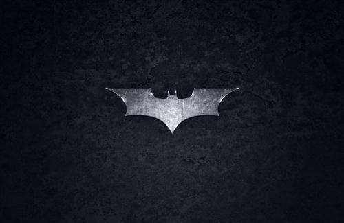 Batman Logo in Black Background