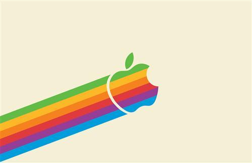 Colorful Apple Logo HD Wallpaper