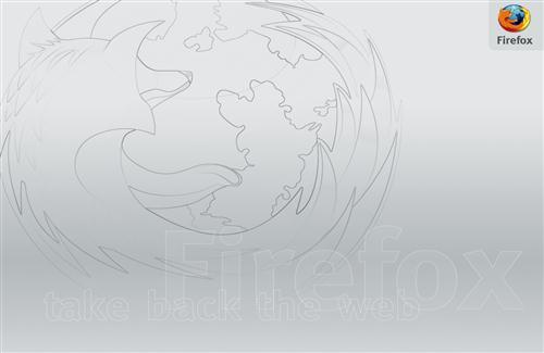 Firefox Logo Drawing