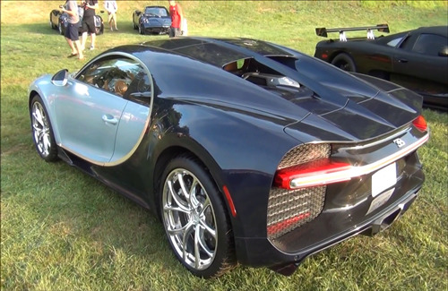 Back Side View of Bugatti Car