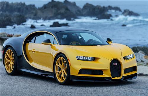 New 2018 Bugatti Chiron Yellow Car