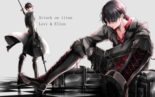 Attack on Titan Levi Cartoon Character 5K Wallpaper