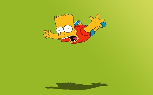 Bart Simpson in The Simpsons Cartoon Show Wallpaper