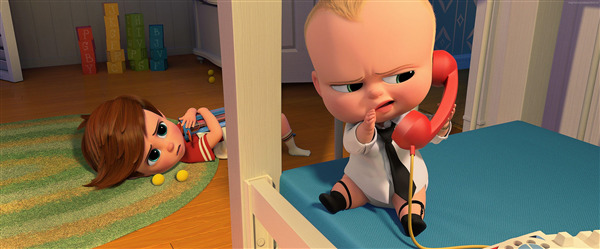 The Boss Baby 3D Comedy Cartoon Film Wallpaper