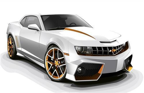 Chevrolet Camaro White 3D HD Car Wallpapers