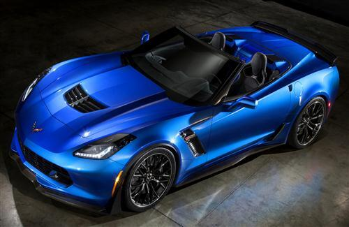 New Chevrolet Corvette Z06 Convertible Blue Car HD Wallpapers