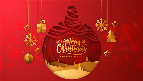 Amazing Wallpaper of Merry Christmas Red Background