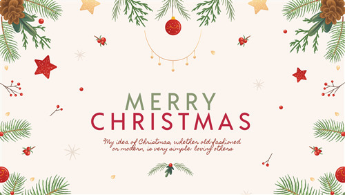 Beautiful Merry Christmas Greeting Quotes in White Background Pics