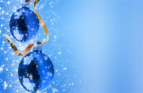 Blue Christmas Ball Background Photo