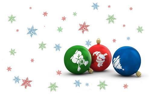 Green Red and Blue Christmas Balls HD Wallpapers Free Download