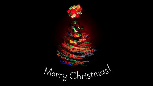 Merry Christmas Black Background Wallpaper