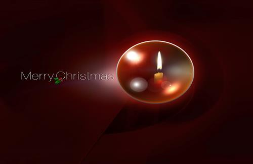 Merry Christmas Holiday High Quality with Candle Wallpaper