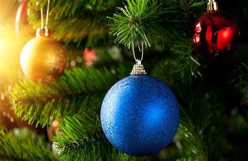 Nice Beautiful Blue Christmas Ball Wallpaper
