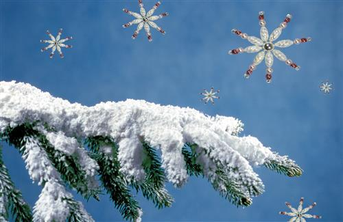 Nice Snowy Christmas Tree Wallpaper