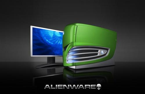 Alienware Computer Cabinet and LCD Wallpaper
