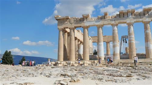 Acropolis of Athens Tourist Attractions in Greece Wallpaper