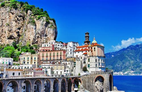 Atrani City of Italy Photo Background