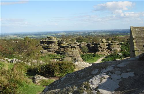 Balancing Brimham Rocks In North Yorkshire England Uk Hd Tourist Place Wallpaper Hd Wallpapers