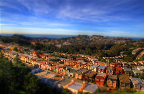 Beauitiful City San Francisco Tilt Shift Photography