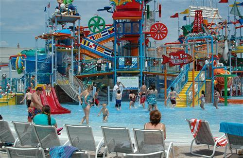 Casino Pier and Breakwater Beach Waterpark in United States HD Tourist Photo