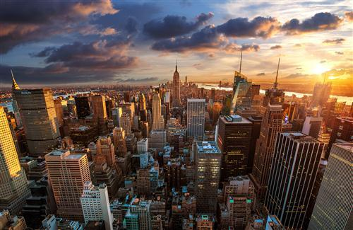 Empire State Building in City Wallpaper
