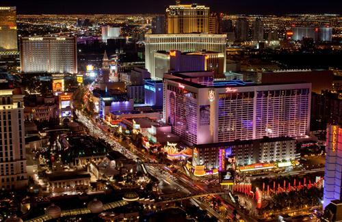 Las Vegas Strip Night View in USA City HD Wallpapers