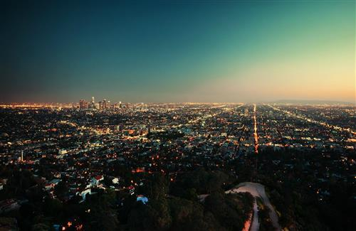 Los Angeles City Night View Wallpaper