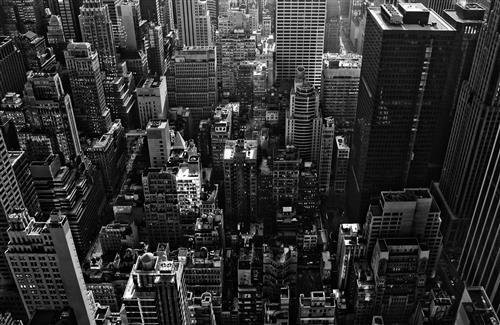 New York Black and White Wallpaper Download